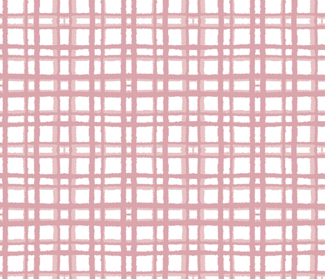 Spring Picnic—Pink fabric by oh_maybe on Spoonflower - custom fabric