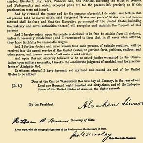 Emancipation Proclamation // Tan // Small