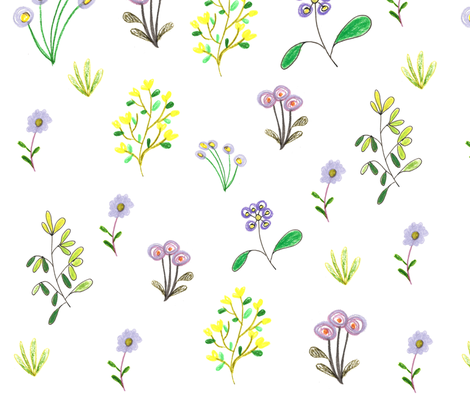 French Countryside fabric by pattesdemouche on Spoonflower - custom fabric