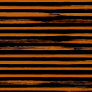 Orange and Black Watercolor Stripes