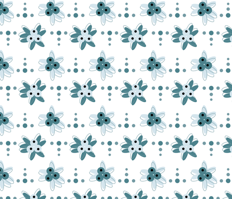 art deco flowers fabric by alandco on Spoonflower - custom fabric