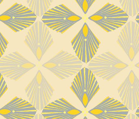 Art deco fan fabric by rachelisa on Spoonflower - custom fabric