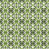 Green and white small Tokyo Boho