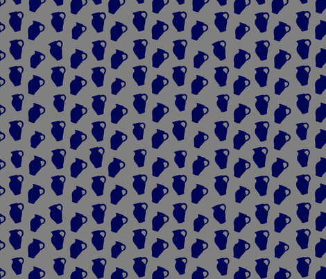 Bembel Blue Jug fabric by madame_floralie on Spoonflower - custom fabric