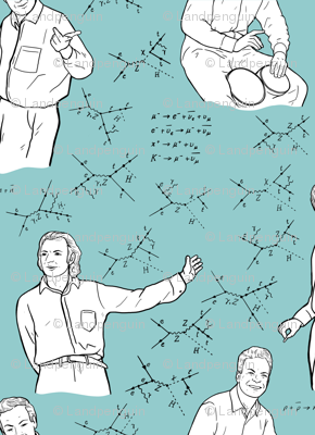 Large Scale Richard Feynman on Light Blue