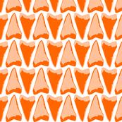 shark teeth orange