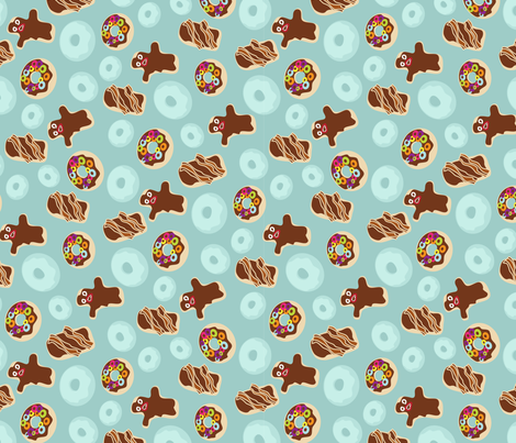 Voodoo Donuts Small - rotated fabric by thecalvarium on Spoonflower - custom fabric