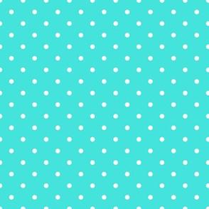 polka dots teal background