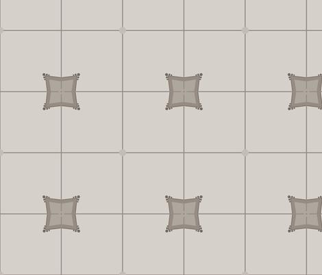 Dogwood Square: Warm Grays fabric by dept_6 on Spoonflower - custom fabric