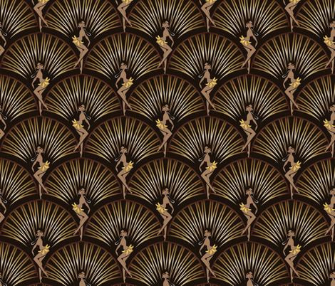Josephine Baker fabric by elodie-lauret on Spoonflower - custom fabric