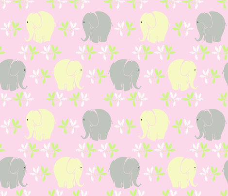 Baby Elephant  fabric by lorloves_design on Spoonflower - custom fabric