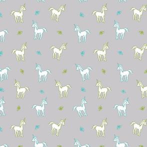 Unicorns on a Field of Grey