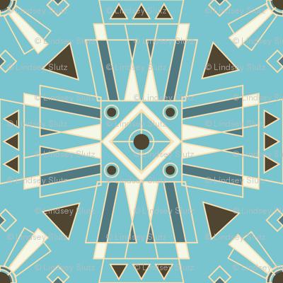 Art Deco Teal