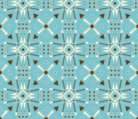 Art Deco Teal fabric by eastcoastcharm on Spoonflower - custom fabric