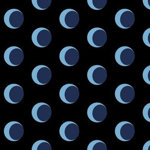 Crescent Moon - Robe Lining Black BG