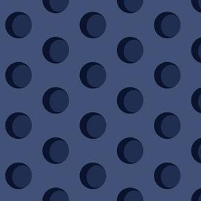 Crescent Moon - Robe Lining Dark Moon
