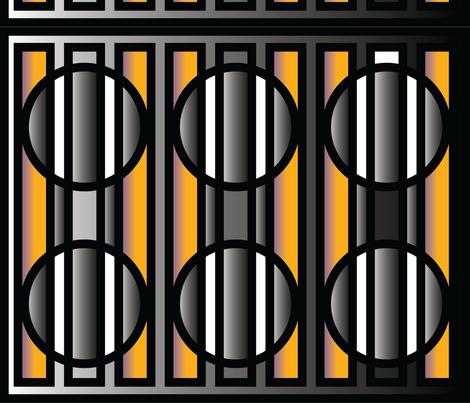 Art Deco motif fabric by charcoalram on Spoonflower - custom fabric