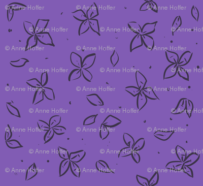 Dispersing Floral on Sleeve, Bright Purple