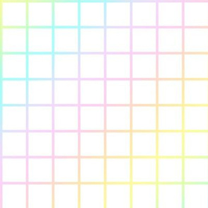 Pastel Rainbow Gradient Grid