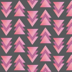 Triangle Arrows pink on gray