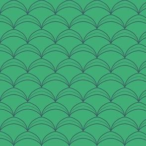 Scallop Scale Jerkin Pattern - Medium Teal Green