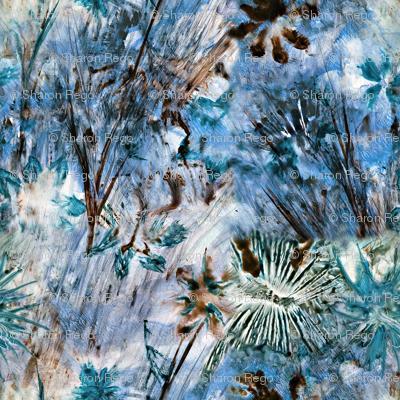 Blue Watercolor Wildflowers