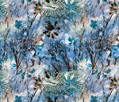 Blue Watercolor Wildflowers fabric by crestbirch on Spoonflower - custom fabric