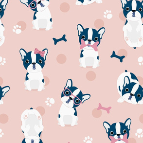Frenchie - Pink French Bulldog - BIG