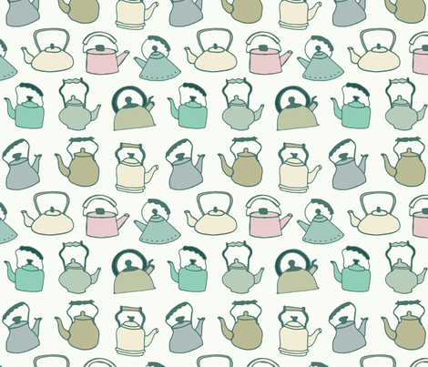 CaitlinHottinger_TeaKettles-01 fabric by caitlinhottinger on Spoonflower - custom fabric
