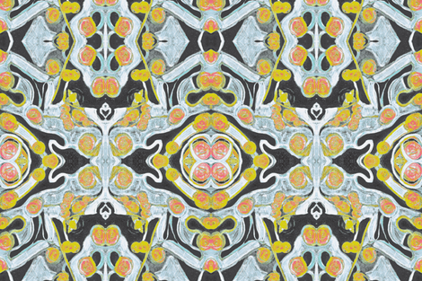 L is for yellow fabric by surcieandme on Spoonflower - custom fabric