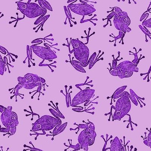 mad purple frogs