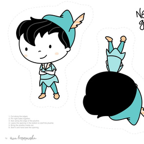 PeterPan - plushie softie pillow 2