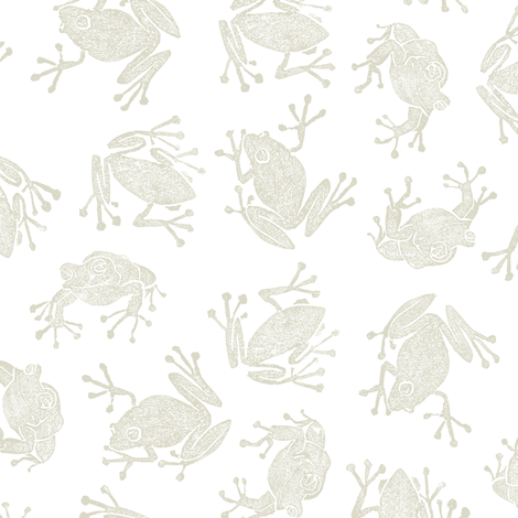bisque frogs fabric by weavingmajor on Spoonflower - custom fabric