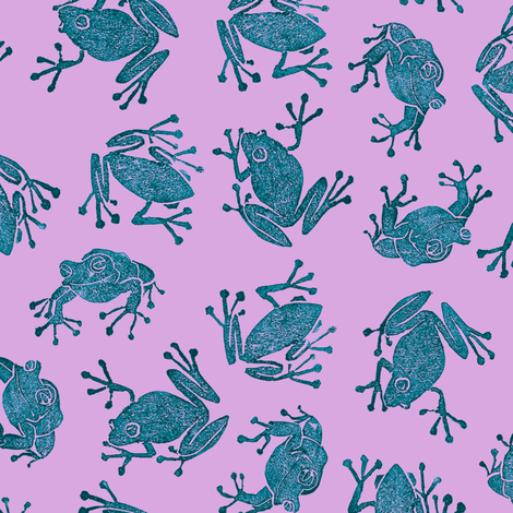 mad teal frogs fabric by weavingmajor on Spoonflower - custom fabric