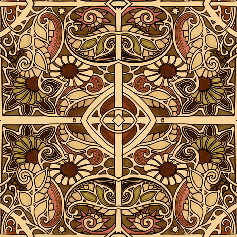 Autumn Moves Into My Guest Room fabric by edsel2084 on Spoonflower - custom fabric