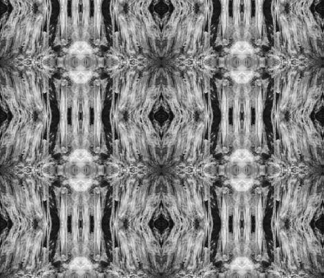New England Ice Formations BW fabric by maryrash on Spoonflower - custom fabric