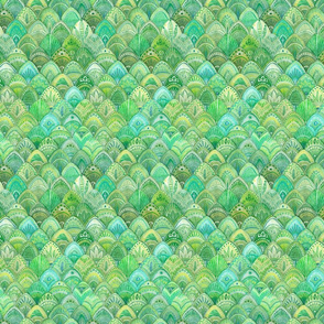 Mermaid Scales - Green