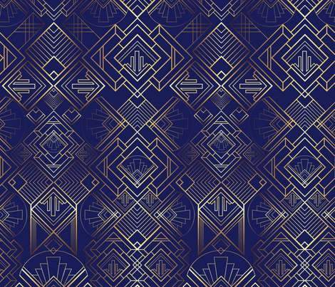 The Brilliant Bizby - Navy fabric by diseminger on Spoonflower - custom fabric