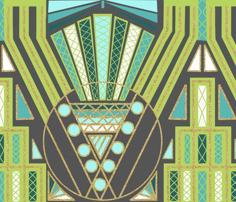 Art Deco pattern fabric by tomatodumplings on Spoonflower - custom fabric