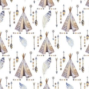 boho neutral teepee arrows