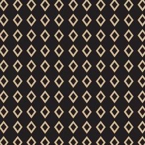 Black Tan Diamond Geometric