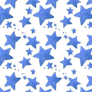 Faded blue stars