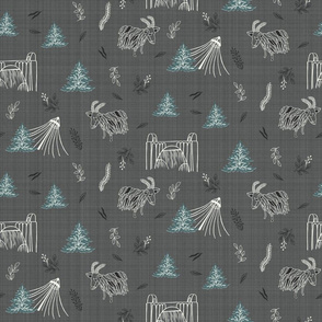 Spokane Landmarks on Grey Linen