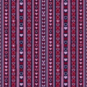 Pixellated Tiny Heart Stripes