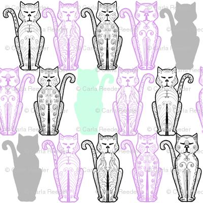 Cat Deco Lavender and Mint