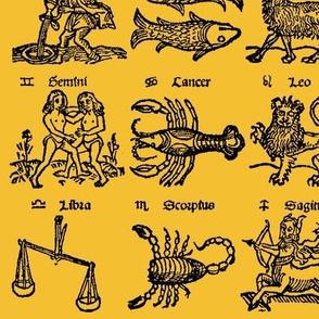 Woodcut Zodiac // Light Orange