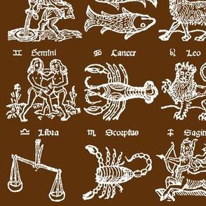 Woodcut Zodiac // Mocha