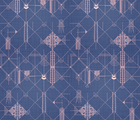 denim grids fabric by booboo_collective on Spoonflower - custom fabric