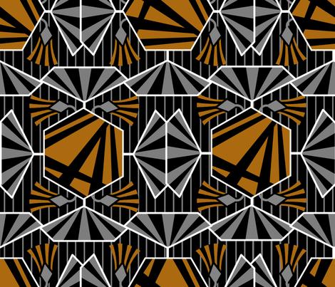 Artdeco flower pattern fabric by se_kyoung on Spoonflower - custom fabric