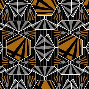 Artdeco flower pattern